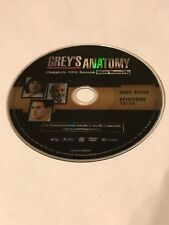 GREY'S ANATOMY FIFTH SEASON 5 DISC 4 REPLACEMENT DVD DISC ONLY