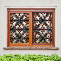 Details about  /3D Christmas Gift ZHUA162 Window Film Print Sticker Cling Stained Glass UV