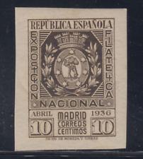 ESPAÑA (1936) NUEVO CON FIJASELLOS MLH - EDIFIL 727 (10 cts)