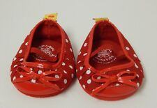 Build A Bear ~ Red and White Polka Dot Shoes