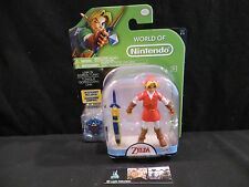 """Link Gordon Tunic w/sword and shield action figure World of Nintendo 4"""" toy"""