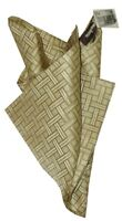 NEW NEIMAN MARCUS PALE GOLD TAUPE HAND ROLLED SUIT POCHETTE SILK POCKET SQUARE