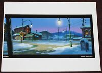 Colin Stimpson Christmas Animation Downtown Color Key Background Print 2002