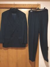 Mens Vintage 90s Green Suit Size Medium Marks And Spencer M And S