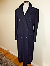 LORO PIANA 100% Cashmere Coat Jacket Womens Navy Italy sz 38 US 8