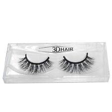 Pair 3D 100% Real Mink Handmade Natural False Eyelashes Cross Messy Eye Lashes