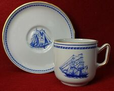 SPODE china TRADE WINDS BLUE pattern W146B Demitasse Cup & Saucer Set - 2-3/8""