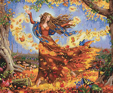 Cross Stitch Kit ~ Gold Collection Fantasy Magical Woodland Fall Fairy #70-35262