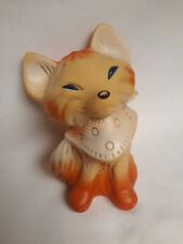 Vintage Squeak toy, Red Fox with lite color, Foreign, squeaks, Rare, Good shape.