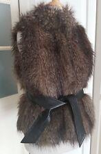 H&M Fellweste Weste Fell Faux Fur Jacke Gr XS 34