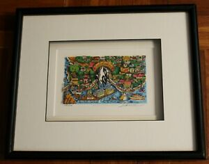 Charles Fazzino That Santa Barbara Weekend Signed Numbered Framed 3D Serigraph