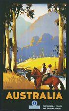 Vintage Travel Poster Australia 37.4 x 24 inch