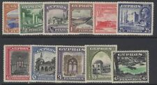 CYPRUS SG133/43 1934 DEFINITIVE SET MTD MINT
