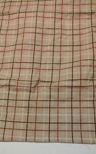 Sonoma Flannel King Size Pillow Sham Tan, Red, White Excellent Crisp Condition!