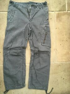 NIKE MENS S SMALL W32 L30 GREY CARGO COMBAT PANTS TROUSERS JEANS