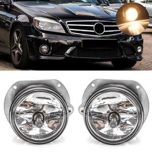 PAIR Fog Light For Mercedes Benz W204 W216 R230 W164 W251 AMG w/Bulbs Left Right