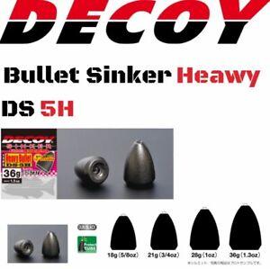 Decoy Bass Fishing Sinker Heawy Bullet Type Ds-5H