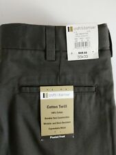 Croft & Barrow cotton twill pleated front wrinkle and stain resistant 33x30