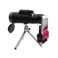 40X60 BAK4 Okular Fernrohr Teleskop Monokular Fernglas mit Handy Adapter Stativ,