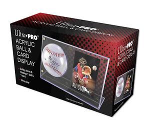 1 Ultra Pro Acrylic Ball & and Baseball Card Holder Display Case