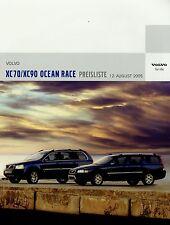 Preisliste Volvo XC70 XC90 Ocean Race Sondermodell 12.8.05 2005 Preise Auto PKWs