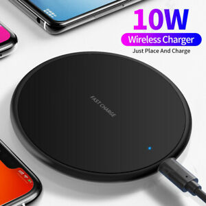 10W Qi Fast Wireless Charger Charging Pad For iPhone 11 Xs Max Xr 8 Plus Samsung
