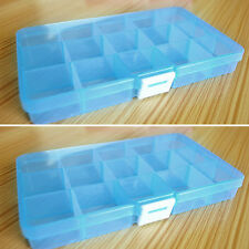 15 Slots Adjustable Jewelry Storage Box Case Craft Organizer Beads LY08