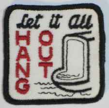 LET IS ALL HANG OUT  PATCH (URINAL) ORIGNAL 70s NEW VINTAGE RETRO HIPPIE JACKET