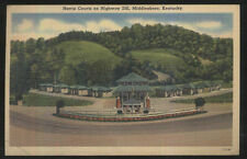 Postcard Middlesboro Kentucky/Ky Harris Tourist Motel Motor Court Cabins 1930's