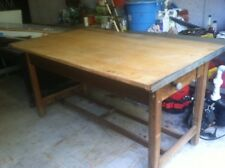 antique 1940's HAMILTON DRAFTING TABLE maple tabletop SOLID OAK