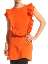 Ted Baker Buna ruffle top or mini cotton stretch dress tunic size 2