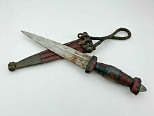 Vintage African Tuareg Knife Tribal Boot Fighting Hunting Knife Leather Sheath