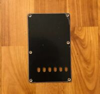 BLACK 3-Ply Back Plate Tremolo Cover for USA MIM Fender Stratocaster Strat® NEW