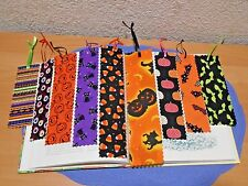 Halloween Fabric Cloth Handmade Bookmarks Various Colors & Sizes Lot of 9
