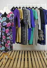 JOB LOT OF 10 VINTAGE DRESSES. MIX OF COLOURS, SIZES AND STYLES. #15