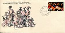 GREAT ART STAMPS OF THE WORLD GIOVANNI BELLINI NIUE PIETA WITH STORY ON INSERT