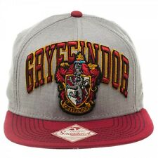 HARRY POTTER GRYFFINDOR SHIELD CREST GREY GREEN SNAPBACK HAT CAP LOGO ADJUSTABLE