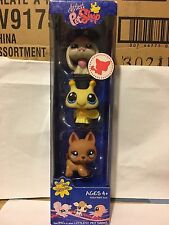 Littlest Pet Shop Rare 3-Pack with Dog, Bee, Bunny #1188-1191
