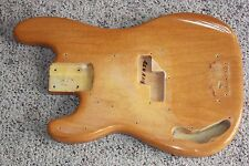 1965 1966 lefty left handed Fender Precision bass body refinished natural