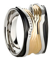 Paar Ring Partnerringe Verlobungsringe Eheringe Edelstahl Silber mit Gravur