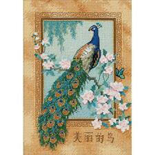 Counted Cross Stitch Kit Beautiful Bird Peacock Dimensions Gold Collection