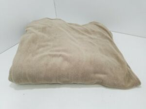 Biddeford Comfort Knit Natural Sherpa Electric Heated Blanket Twin Gray L210