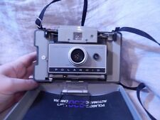 Vintage Polaroid 230 Land Camera with Plastic Case and Leather Carrying Case