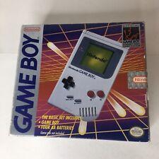 Original Nintendo Game Boy DMG-01 Near Complete in Box GameBoy