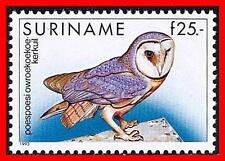 SURINAME 1993 Tropical BIRDS / OWL SC#731 MNH CV$35.00 (USA $$)