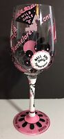 Lolita Hand Painted Wine Glass In Box Bachelorette Last Night Out  Party Drink