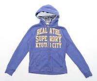 Superdry Womens Size S Cotton Blend Blue Hoodie (Regular)