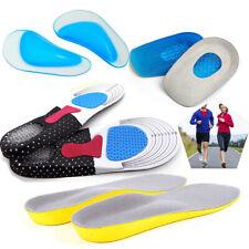 Unisex Shoe Insoles Pads Memory Foam Orthopaedic Trainer Feet Comfort Heel Gel