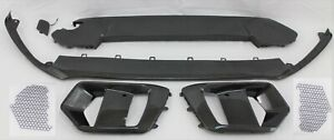 front bumper lower spoiler grille plate 7 pc Carbon Fiber fits 2016-19 Focus RS