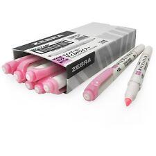 10 x Zebra Mildliner Creative Highlighter Marker Pen - Double Ended - Pink